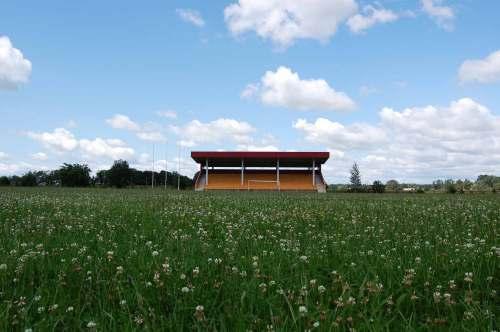 Kaip matosi iš šio vaizdelio, futbolo čia šią vasarą niekas nežaidžia. Pievutė sodri, tokia, kad nors karvę ganyk.