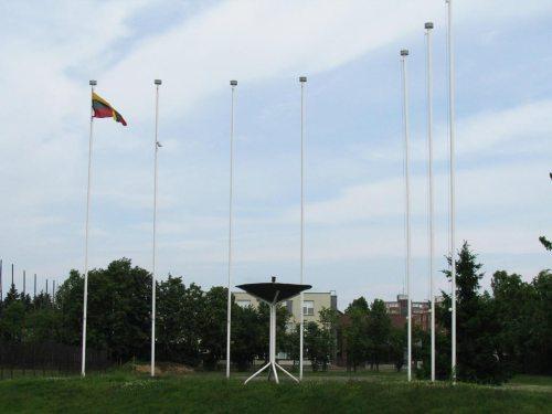Dar vienas architektūrinis stadiono akcentas - vieta olimpiniam ugniakurui.