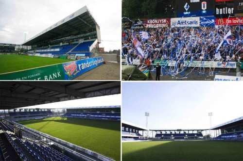 Keletas Randers FC stadiono vaizdų