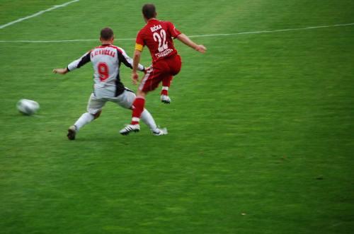 Giedrius Slavickas šiandien buvo vienas geriausių. Stadionas aplodismentų jam nepagailėjo.